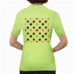 Pearly Pattern Women s Green T-Shirt Back
