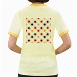 Pearly Pattern Women s Fitted Ringer T-Shirts Back