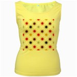 Pearly Pattern Women s Yellow Tank Top Front