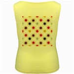 Pearly Pattern Women s Yellow Tank Top Back