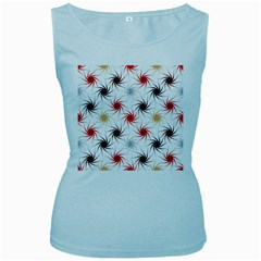 Pearly Pattern Women s Baby Blue Tank Top