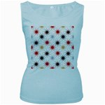 Pearly Pattern Women s Baby Blue Tank Top Front