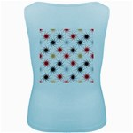 Pearly Pattern Women s Baby Blue Tank Top Back
