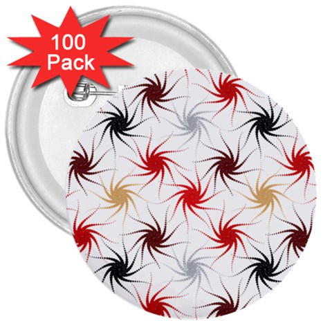 Pearly Pattern 3  Buttons (100 pack)