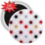 Pearly Pattern 3  Magnets (100 pack) Front