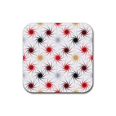 Pearly Pattern Rubber Square Coaster (4 pack)