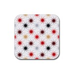 Pearly Pattern Rubber Square Coaster (4 pack)  Front