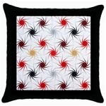 Pearly Pattern Throw Pillow Case (Black) Front