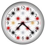 Pearly Pattern Wall Clocks (Silver)  Front