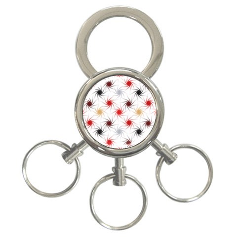 Pearly Pattern 3-Ring Key Chains