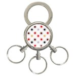 Pearly Pattern 3-Ring Key Chains Front