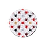 Pearly Pattern Rubber Coaster (Round)  Front