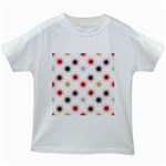 Pearly Pattern Kids White T-Shirts Front