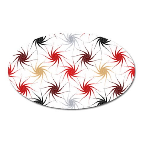 Pearly Pattern Oval Magnet