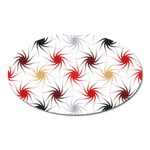 Pearly Pattern Oval Magnet Front