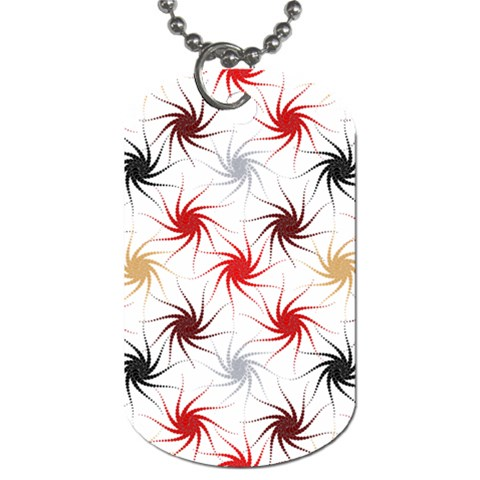 Pearly Pattern Dog Tag (One Side)