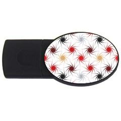 Pearly Pattern USB Flash Drive Oval (2 GB)