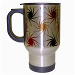 Pearly Pattern Travel Mug (Silver Gray) Left