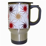 Pearly Pattern Travel Mugs (White) Right