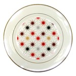 Pearly Pattern Porcelain Plates Front
