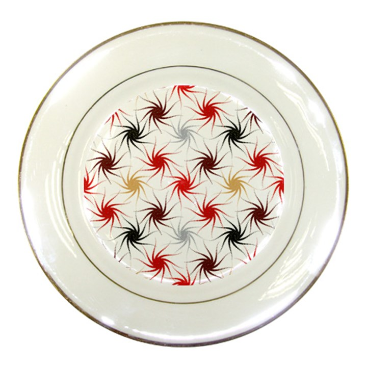 Pearly Pattern Porcelain Plates