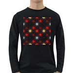 Pearly Pattern Long Sleeve Dark T-Shirts Front