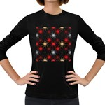 Pearly Pattern Women s Long Sleeve Dark T-Shirts Front