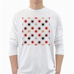 Pearly Pattern White Long Sleeve T-Shirts Front