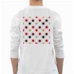 Pearly Pattern White Long Sleeve T-Shirts Back