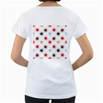 Pearly Pattern Women s Loose-Fit T-Shirt (White) Back