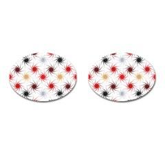 Pearly Pattern Cufflinks (Oval)