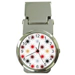 Pearly Pattern Money Clip Watches Front