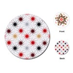 Pearly Pattern Playing Cards (Round)  Front