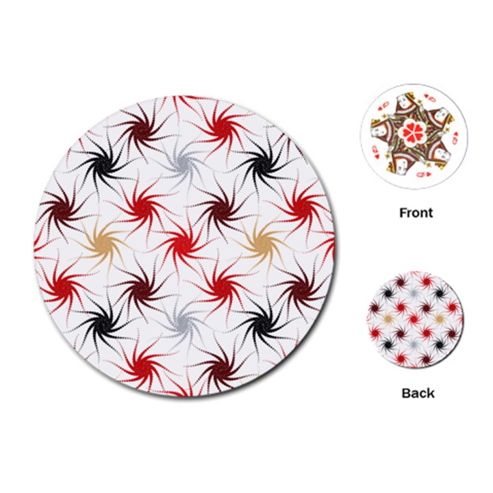 Pearly Pattern Playing Cards (Round)