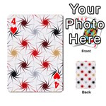 Pearly Pattern Playing Cards 54 Designs  Front - Heart4