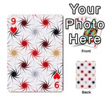 Pearly Pattern Playing Cards 54 Designs  Front - Heart9