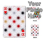 Pearly Pattern Playing Cards 54 Designs  Front - Heart10