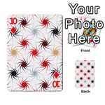 Pearly Pattern Playing Cards 54 Designs  Front - Diamond10