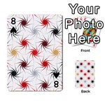 Pearly Pattern Playing Cards 54 Designs  Front - Spade8