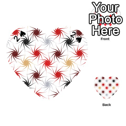 Pearly Pattern Playing Cards 54 (Heart)