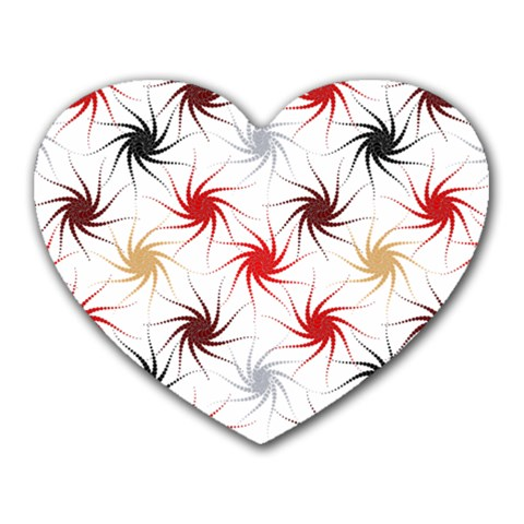 Pearly Pattern Heart Mousepads