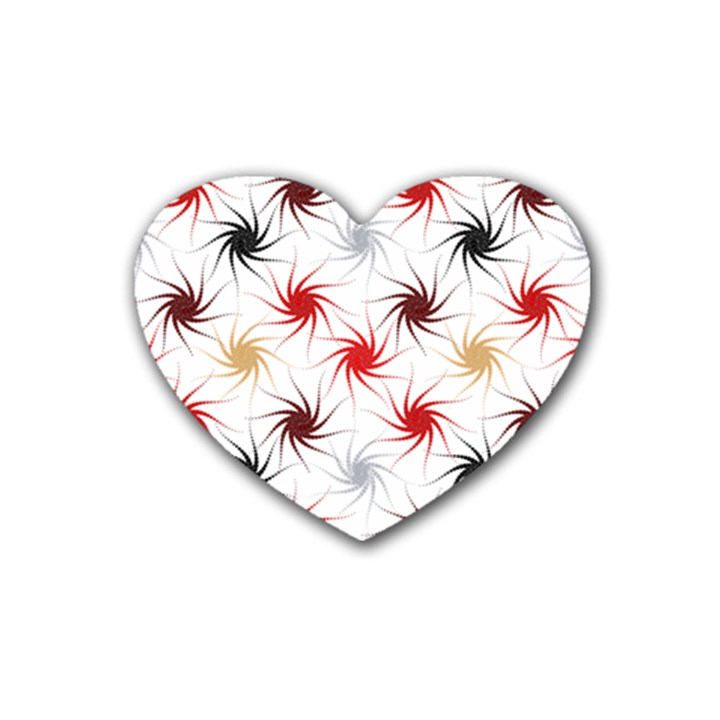 Pearly Pattern Rubber Coaster (Heart)