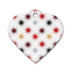 Pearly Pattern Dog Tag Heart (One Side)