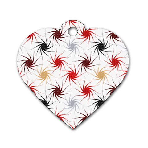 Pearly Pattern Dog Tag Heart (Two Sides)