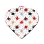 Pearly Pattern Dog Tag Heart (Two Sides) Front