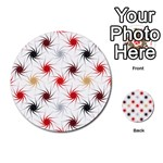 Pearly Pattern Multi-purpose Cards (Round)  Back 36