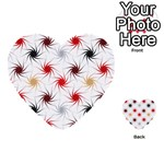 Pearly Pattern Multi-purpose Cards (Heart)  Front 3