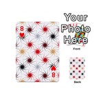Pearly Pattern Playing Cards 54 (Mini)  Front - Heart8