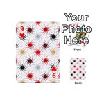Pearly Pattern Playing Cards 54 (Mini)  Front - Heart9