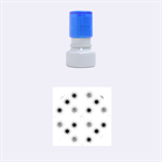 Pearly Pattern Rubber Round Stamps (Small) 1.12 x1.12  Stamp